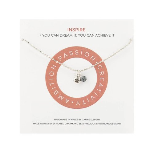 Carrie Elspeth Inspire  Mantra Necklace