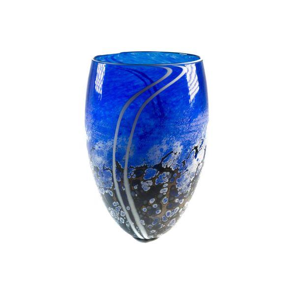 Cobalt Stone tall vase