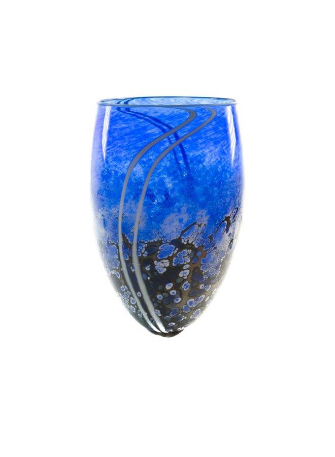 Hohe Vase aus Kobaltstein