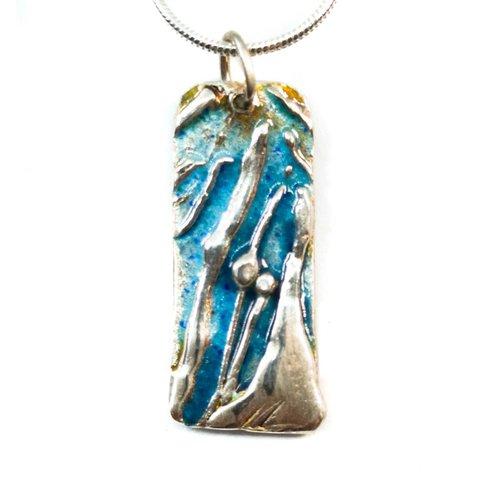 Maria Santos Collar de plata de esmalte de árbol