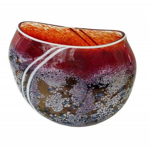 Martin Andrews Sonnenuntergang flache Vase klein