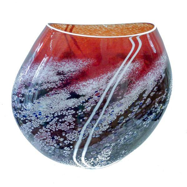 Sonnenuntergang flache Vase groß