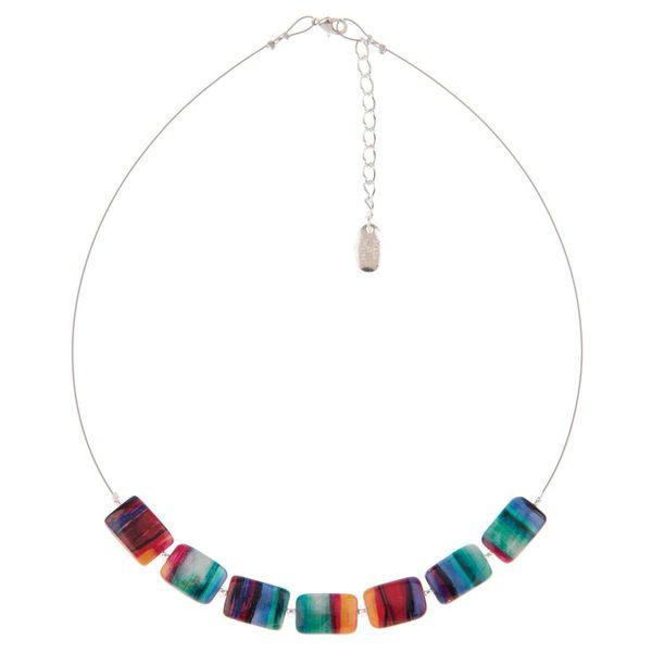 Necklace Abstract Links - Multi colour