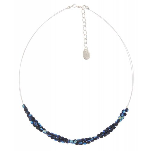 Carrie Elspeth Blue/black twist  necklace