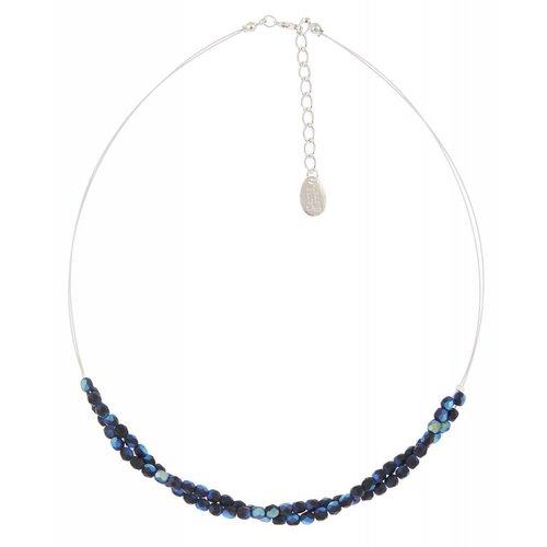 Carrie Elspeth Collar de torcedura azul / negro