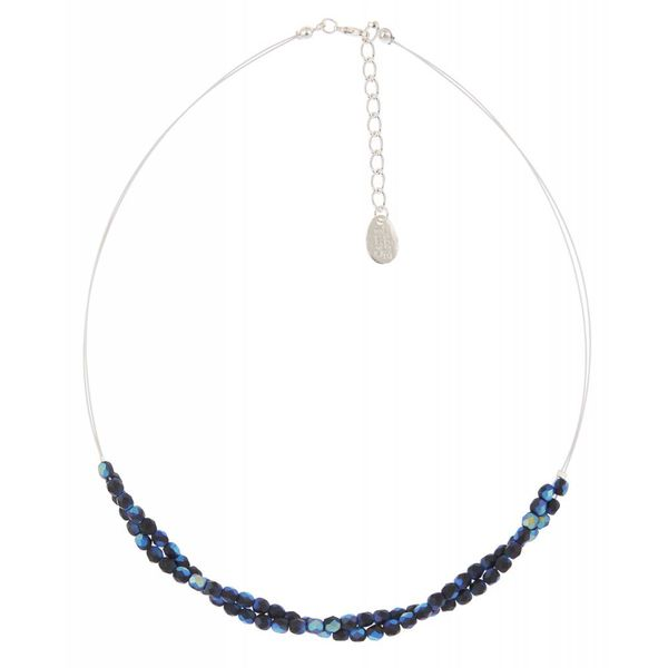 Blue/black twist  necklace
