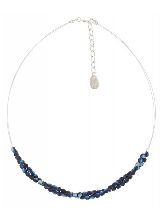 Blau / schwarze Twistkette