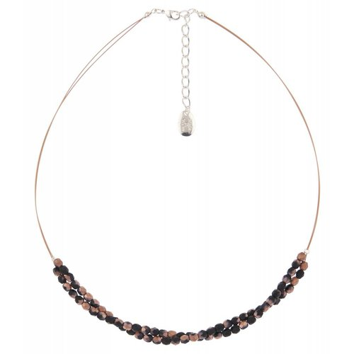 Carrie Elspeth Copper/black twist  necklace