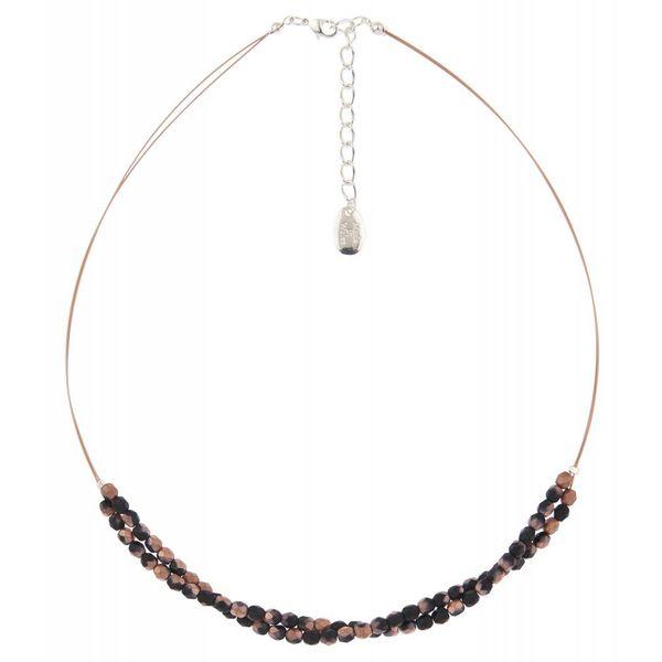 Copper/black twist  necklace
