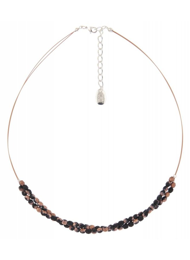 Copper/black twist  necklace