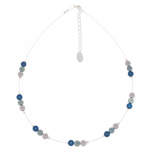 Carrie Elspeth Blue platters spaced necklace