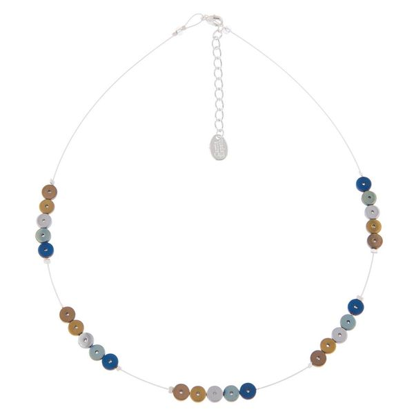 Multi platters spaced necklace