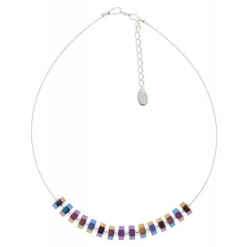 Carrie Elspeth Spectrum Hexagon links necklace