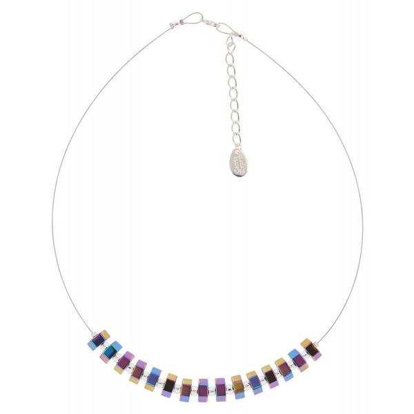 Spectrum Hexagon links necklace