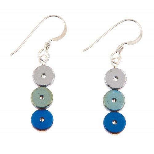 Carrie Elspeth Pendientes Platters Azules