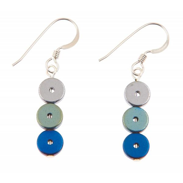 Blue Platters Earrings