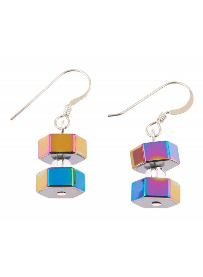 Spektrum Sechseck Ohrringe