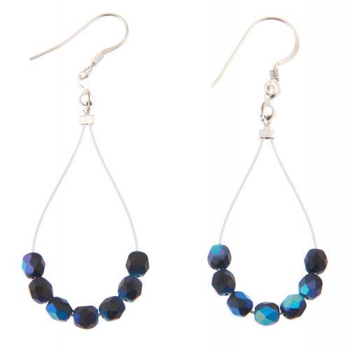Carrie Elspeth Pendientes Blue Black Twists