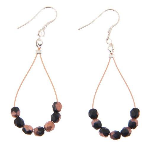 Carrie Elspeth Copper Black Twists Earrings