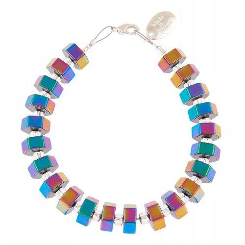 Carrie Elspeth Spectrum Hexagon Bracelet