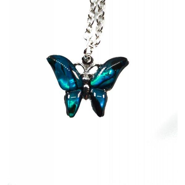 Butterfly Inlaid Paua shell  necklace