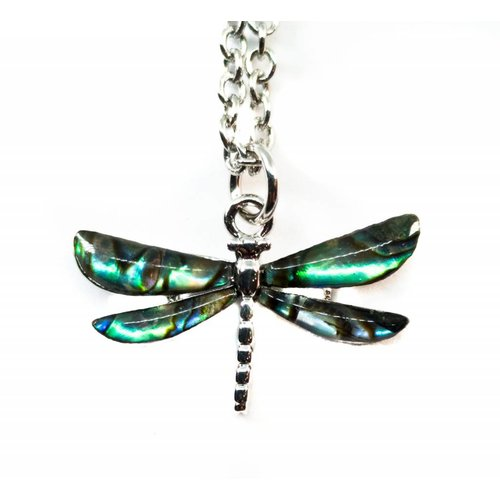 Tide Jewellery Dragonfly Inlaid Paua shell  necklace 41N