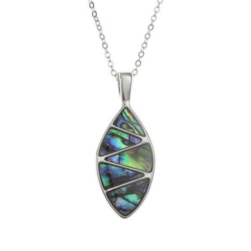 Tide Jewellery Zigzag con incrustaciones ovaladas Paua collar