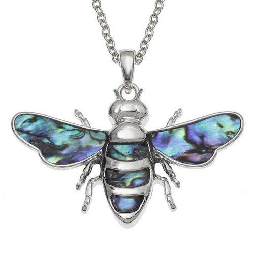 Tide Jewellery Biene eingelegte Paua Muschelkette