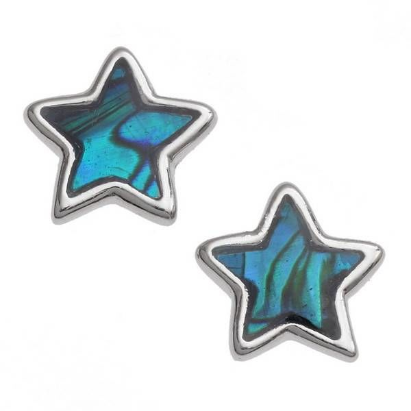 Star Inlaid Paua shell  Stud Earrings