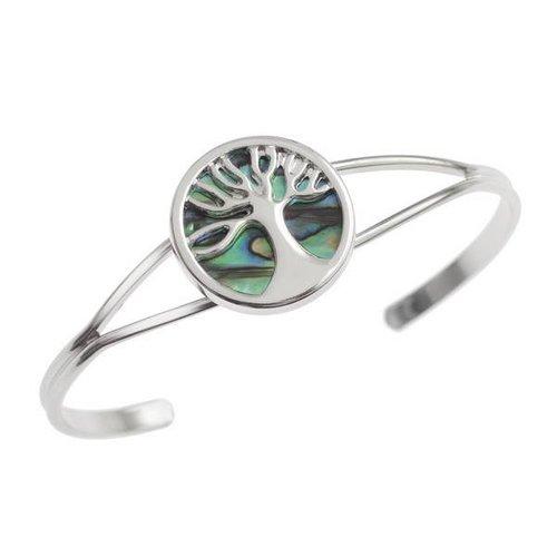 Tide Jewellery Baum des Lebens Paua Shell Bangle mit Intarsien