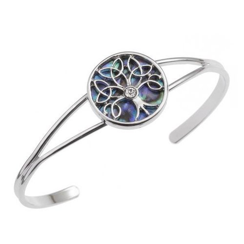 Tide Jewellery Celtic Tree of Life Inlaid  Paua shell  Bangle