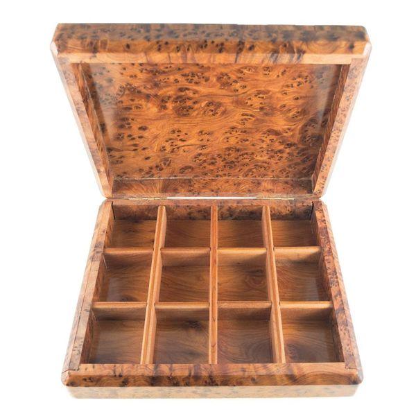 Dalia Tree Wood y Pewter box 12 secciones