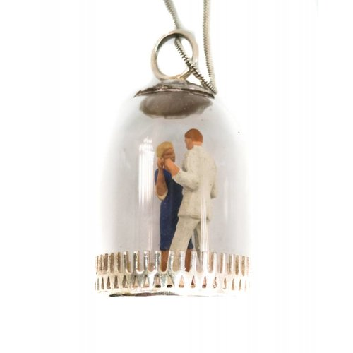 Katie Johnson Dome diorama Strictly Dancers silver Pendant