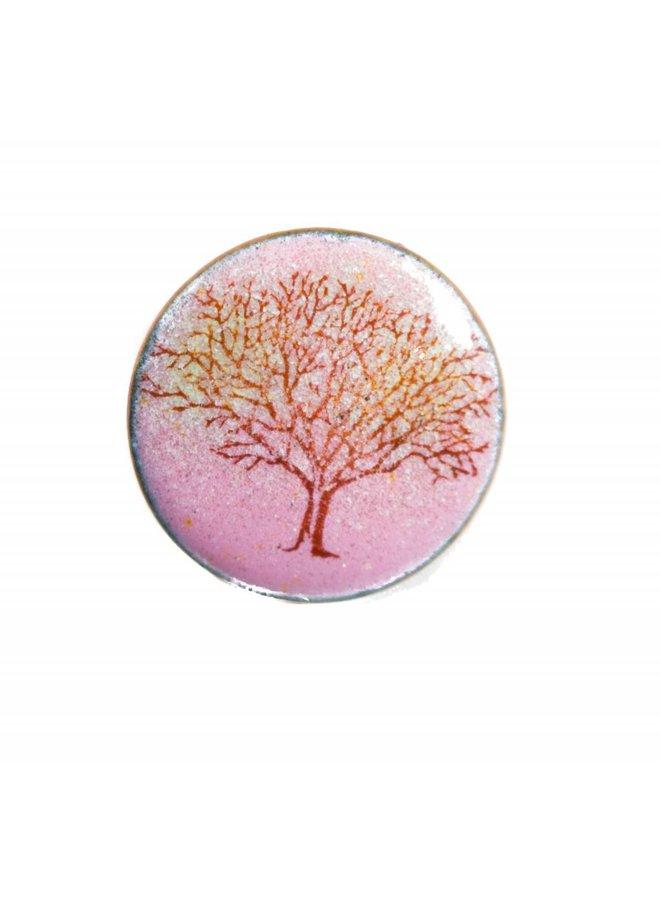 Brooch round tree