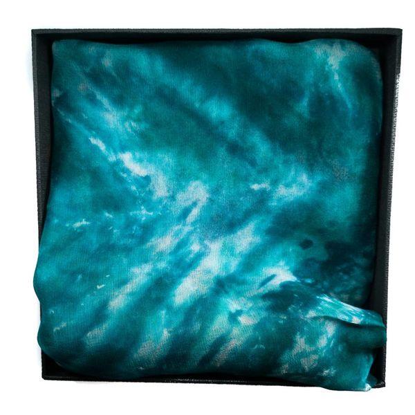 Sirena larga Gossamer bufanda de seda en caja