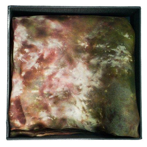 Lady Crow Silks Pañuelo de seda Lichen Long Gossamer en caja