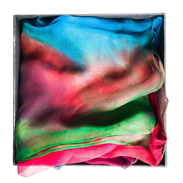 Autumn Long Gossamer Silk Scarf Boxed