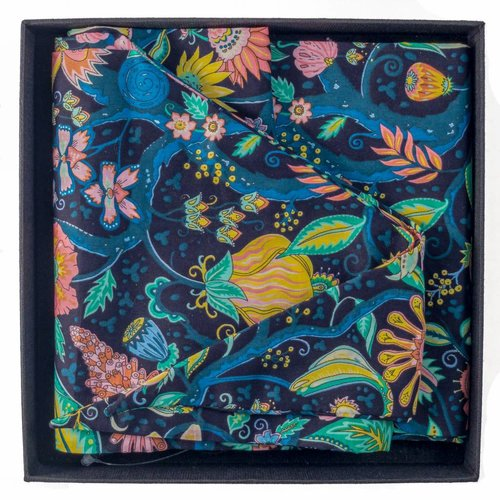 Lady Crow Silks Liberty Cotton Scarf Spring Tree of Eden Boxed