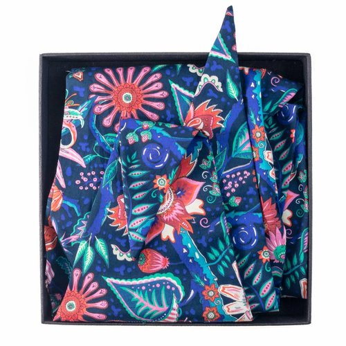 Lady Crow Silks Liberty Cotton Scarf Summer Tree of Eden