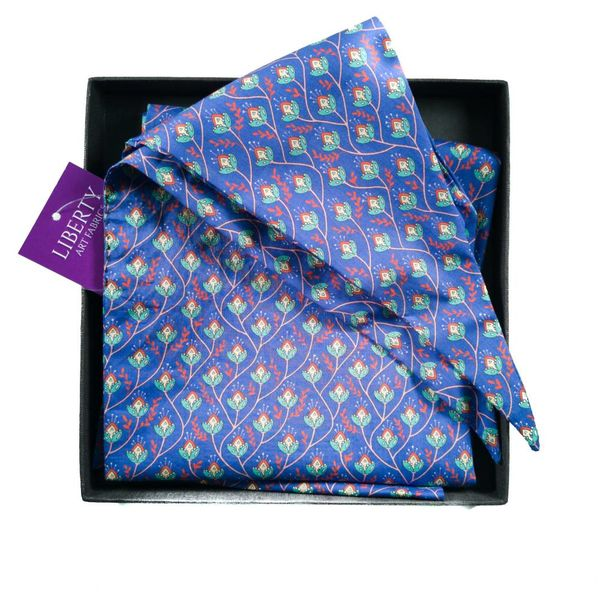 Bufanda de algodón Purple Vine Liberty en caja