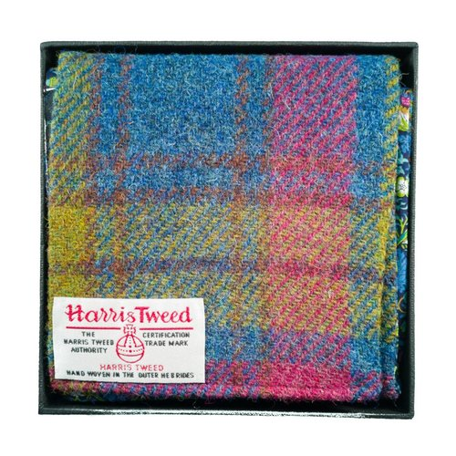 Lady Crow Silks Harris tweed and liberty Heather scarf Boxed