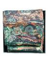 Harris Tweed und Freiheit Rust und Jade Schal Boxed