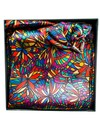 Bright Jewel Satin and Silk Scarf  with magnetic clasp Boxed