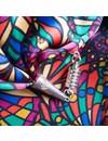 Brillante joya de satén y bufanda de seda con cierre magnético en caja