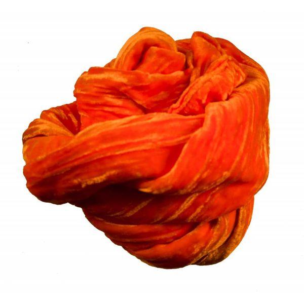 Pañuelo de terciopelo de seda de mandarina