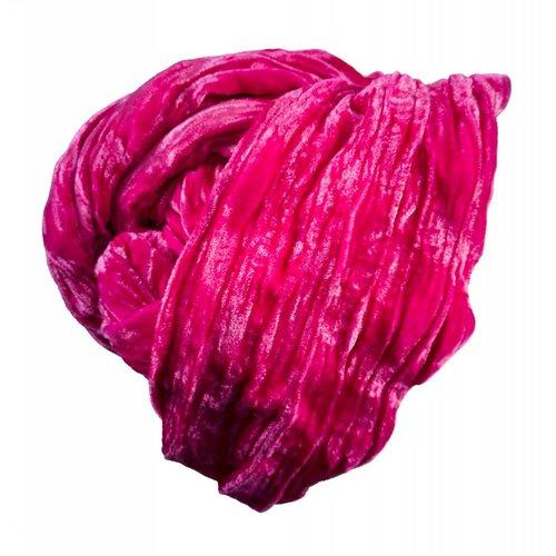 Lady Crow Silks Rose Silk Double Velvet scarf 069