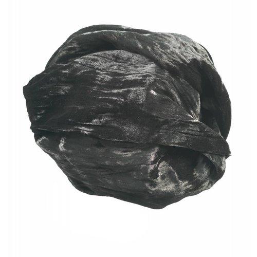 Lady Crow Silks Ebony Silk Double Velvet Schal