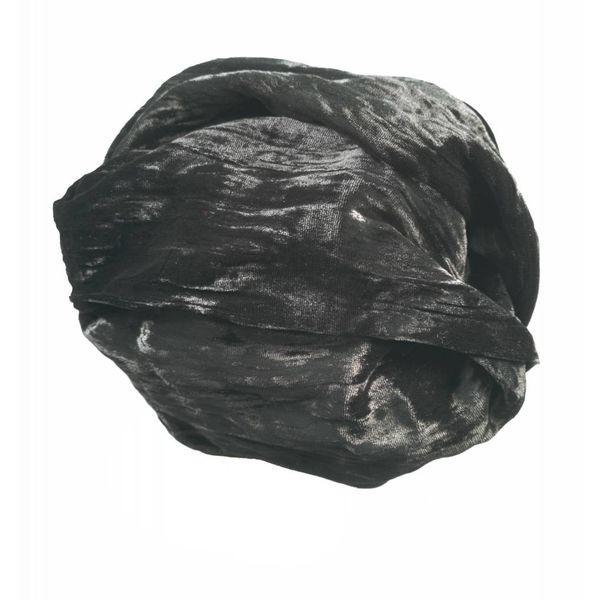 Ebony Silk Double Velvet scarf
