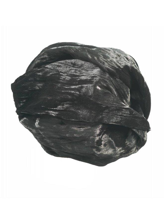 Ebony Silk Double Velvet Schal