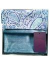 Blauer Paisley Liberty Baumwolle und Seide Schal Boxed